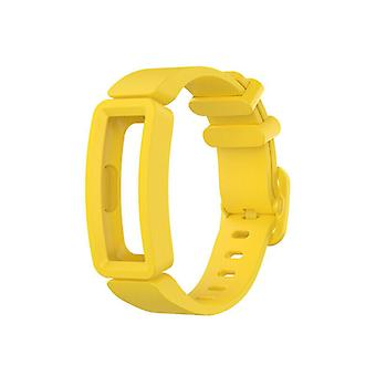 Náhradný silikónový remienok náramok pre Fitbit Inspire / 2 / HR / Ace 2 [Žltá]