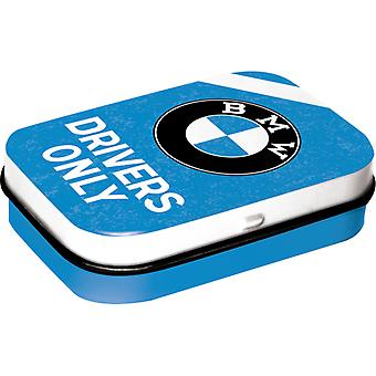 BMW Drivers Only Nostalgic Blue Sugar Free Mint Tin - Cracker Filler Gift