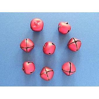 8 Röd 25mm Jingle Bells för Hantverk