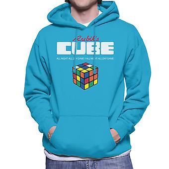 Rubik's All Night All Day Game Men's Hooded Sweatshirt