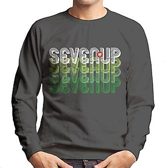 7UP Retro Seven Up Text Men's Sweatshirt