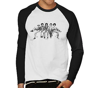Jackson 5 At Hyde Park Corner 1977 Men's Baseball Long Sleeved T-Shirt