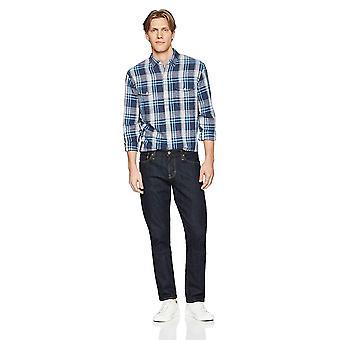 Goodthreads Men&s Standard-Fit Koszula z długim rękawem i bawełniana mieszanka, brig...