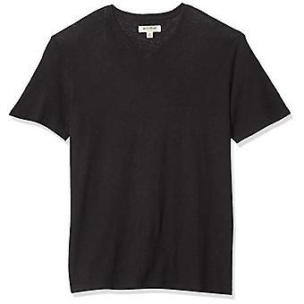 Goodthreads Koszulka z bawełny lniane, czarny, XX-duży