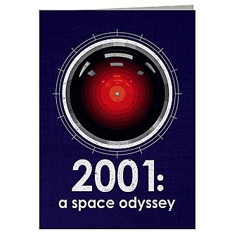 2001 A Space Odyssey Inspired HAL 9000 Greeting Card
