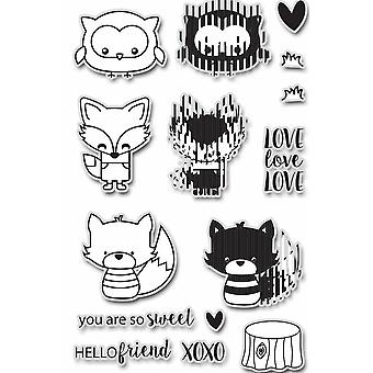 Uchi's Design Animation Clear Stamp and Dies Hello Friends