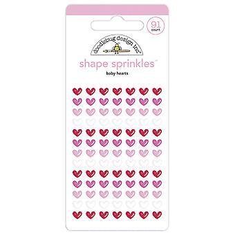 Doodlebug Design Baby Hearts Shape Sprinkles (91pcs) (6151)