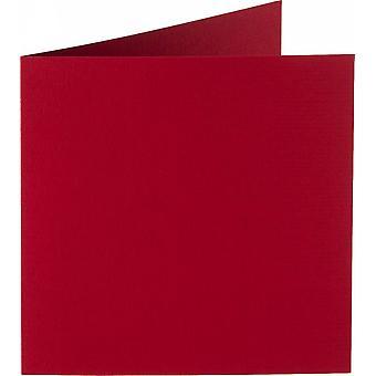 Papicolor 6X Tarjeta Doble 132X132mm Navidad-Rojo