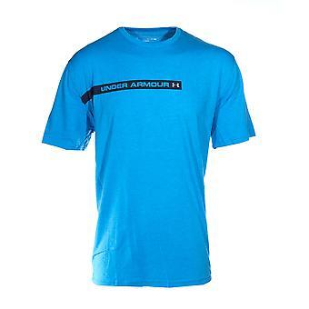 Under Armour Fast Wordmark Mens Short Sleeve Fitness Training T-Shirt Tee Blue