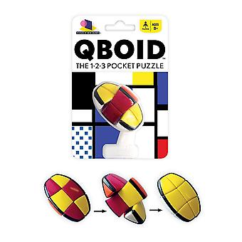 Games - Ceaco Brainwright - Qboid The 1-2-3 Pocket Puzzle 8011d