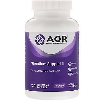 Advanced Orthomolecular Research AOR, Support Strontium II, 120 Capsu végétarien