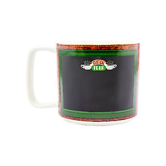 Central Perk Chalkboard Mug Licensed Friends Blackboard Cup With Chalk Pen 340ml