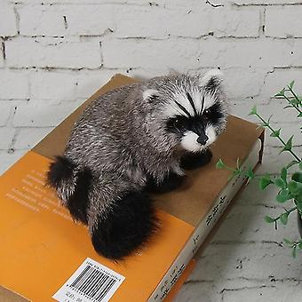 Simulação 3d Raccoon Furry Animal Model Toy - Art Craft Desktop Decor Photo