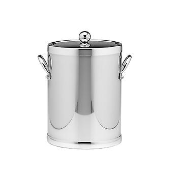 Polished Chrome 5 Qt. Ice Bucket With Metal Side Handles