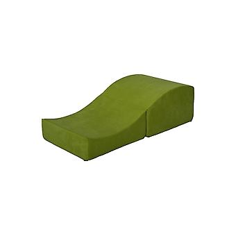 Sexo sofá verde dobrável