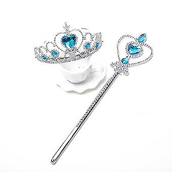 Frozen Girls Elsa Anna Wig Tiara Crown & Magic Wand Fancy Dress Accessoires