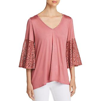 Status by Chenault | Jersey Lace Blouse