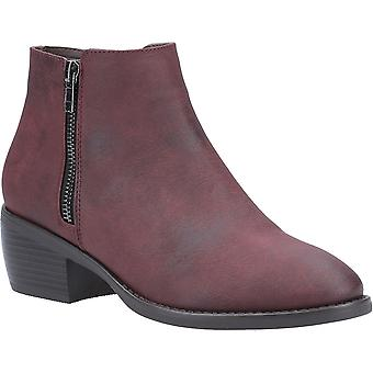 Divaz Womens Ruby Stylish Zip Up Pull On Ankle Boots