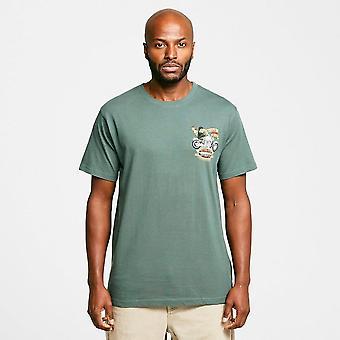 Uusi Weird Fish Men's MotorPike T-paita Vihreä