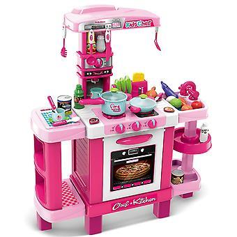 Children's kitchen 37 elements pink 78x29x87cm