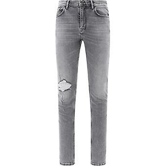 Acne Studios B00093grey Men's Grey Cotton Jeans
