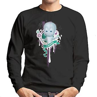 Casper The Friendly Ghost School Emblem Men's Sweatshirt