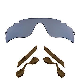 الاستقطاب استبدال العدسات عدة ل Oakley تنفيس مسار رادارلوك الفضة براون المضادة للخدش المضادة للوهج UV400 SeekOptics
