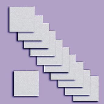 10 Pale Lavender Square Card Inserts 140 x 140