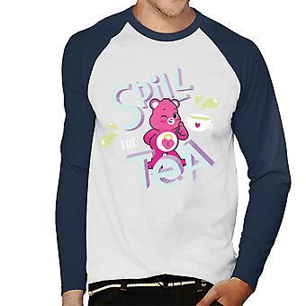 Care Bears Unlock The Magic Spill The Tea Men's Baseball camiseta de manga larga