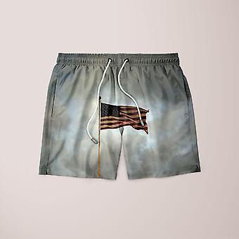Szorty z flagą Usa