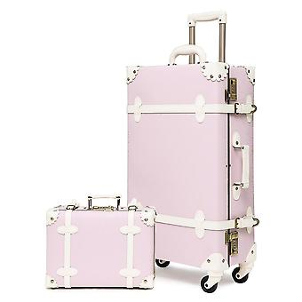 Urecity Vintage Luggage Sets Of 2 Pieces With Swivel Caster Wheels And