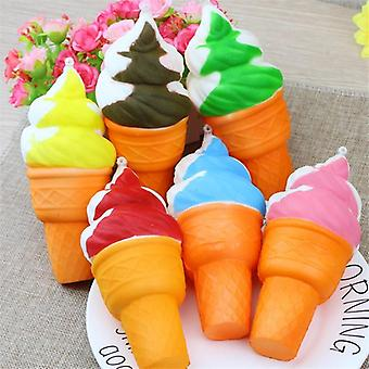 Ice Cream Simulation Toy, Mini Cute Phone Straps Squishy, Slow Rising Squeeze