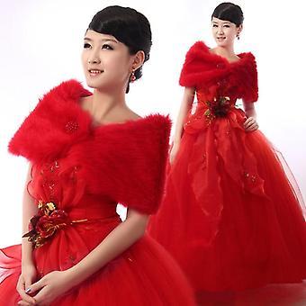 Hot New Wedding Bolero Outerwear Accessories Urged Wrap Bride Formal Winter