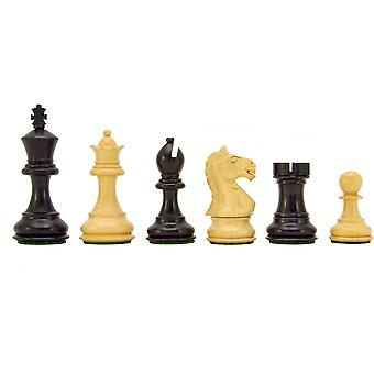 Fierce Knight Ebonised Staunton Chessmen 3 Inches Including Case
