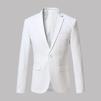 Men Blazer Dress Casual Slim Fit Veste de costume de haute qualité