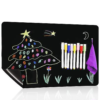 Office Weekly Plan Kids Drawing Blackboard, A3 Magnetic Calendar Chalkboard