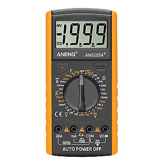 AN9205A+ Fully Automatic Multi-function AC DC Digital Multimeter Yellow