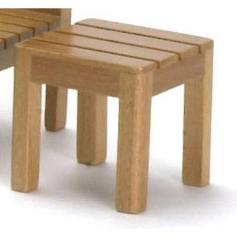 Dolls House Slatted Wood Maple Side Table Miniature Garden Patio Furniture