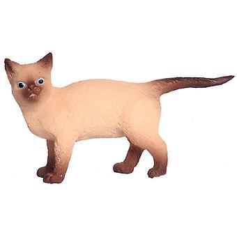 Puppen Haus siamesische Katze wandern Miniatur 01:12 Zubehör Haustier