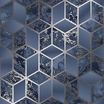 Muriva Elixir Cube Navy Zilver