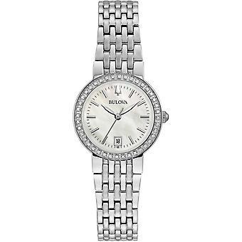 Bulova 96R239 المرأة & apos الأم من اللؤلؤ الماس ساعة اليد