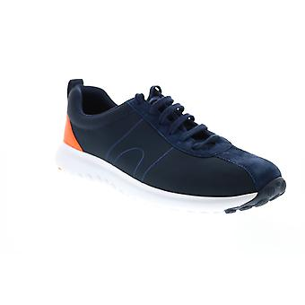 Camper Canica  Mens Blue Canvas Lace Up Euro Sneakers Shoes