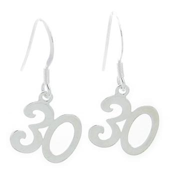 30e verjaardag Sterling Silver Drop Oorbellen .925 X 1 Pair Drops