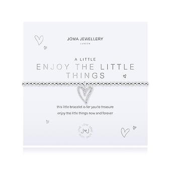Joma joyería un poco disfrutar de las pequeñas cosas plata 17.5cm pulsera elástica 4347