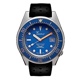 Squale 1521BLUEBL.NT 500 Meter Swiss Automatic Dive Wristwatch Rubber