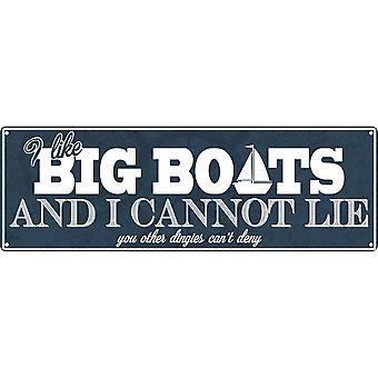Grindstore I Like Big Boats & I Cannot Lie Plaque