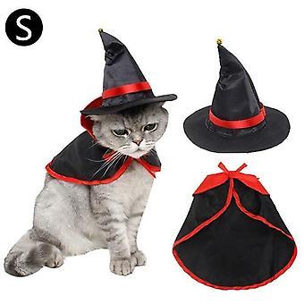 Lemmikkieläinten Halloween-viittahattusetti Cosplay-vaatteet