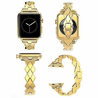 Wearlizer Rhombus Design Bänder für Apple Watch Strap 38mm - Gold
