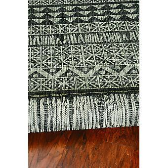 5' x 8' Charcoal Aztec Pattern Rug