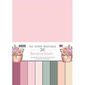 The Paper Boutique - Grandma's Garden Collection - A4 Colour Card Collection